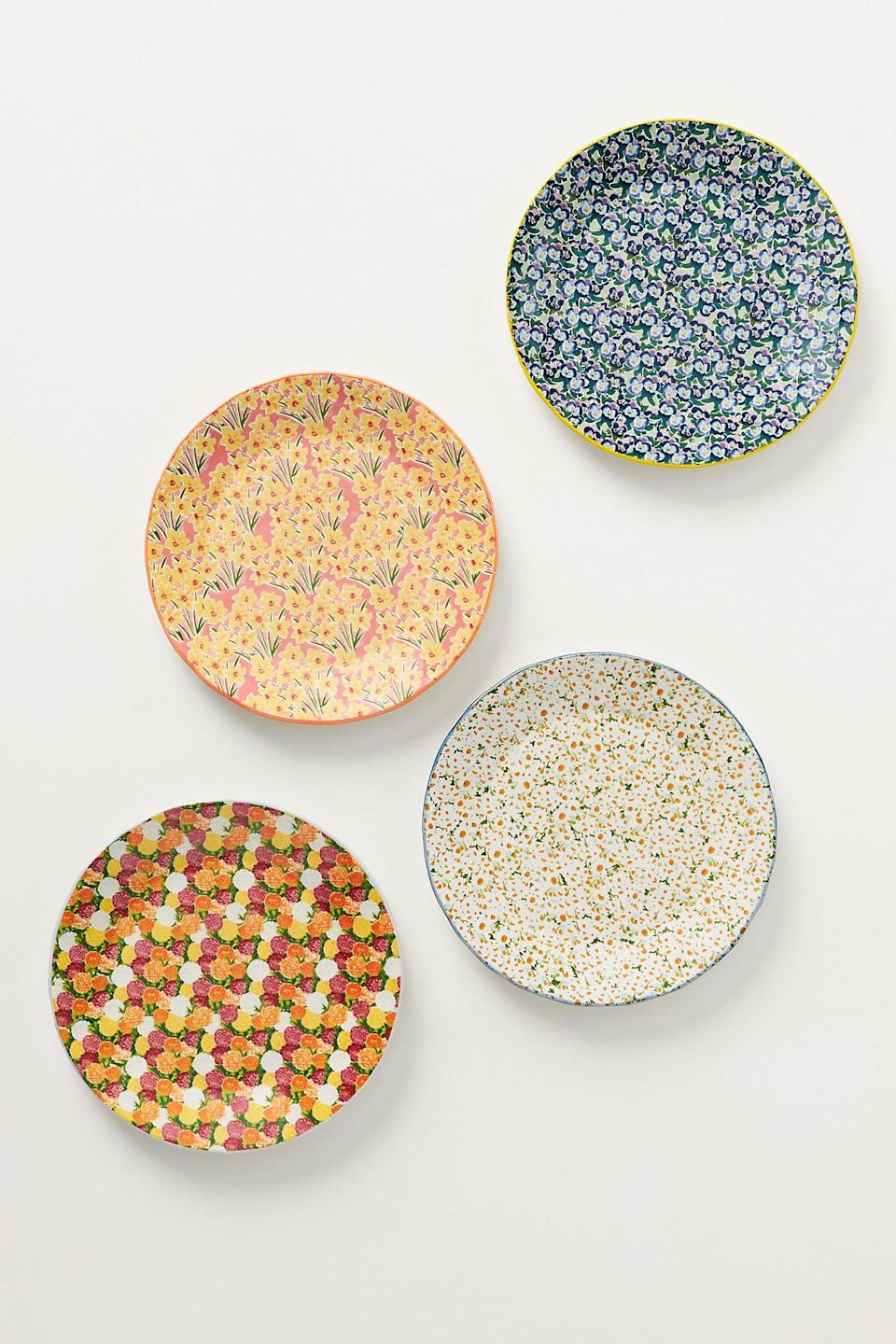 """<br><br><strong>Kimmy Scafuro</strong> Flowerfield Dessert Plate, $, available at <a href=""""https://go.skimresources.com/?id=30283X879131&url=https%3A%2F%2Fwww.anthropologie.com%2Fshop%2Fkimmy-scafuro-flowerfield-dessert-plate"""" rel=""""nofollow noopener"""" target=""""_blank"""" data-ylk=""""slk:Anthropologie"""" class=""""link rapid-noclick-resp"""">Anthropologie</a>"""