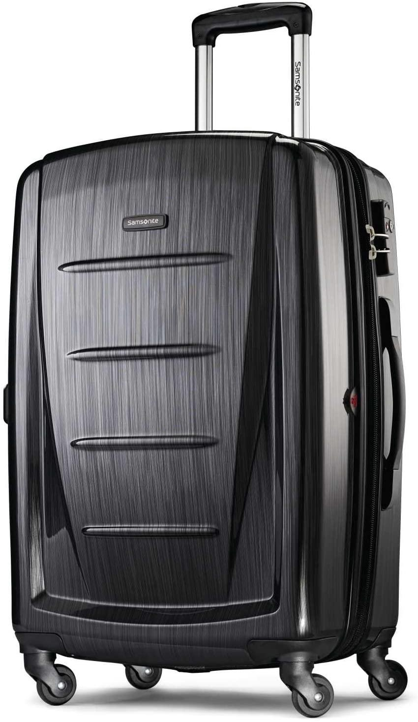 """<br><br><strong>Samsonite</strong> Winfield Two Hardside Expandable Luggage, $, available at <a href=""""https://www.amazon.com/Samsonite-56846-2849-Checked-Large-Brushed-Anthracite/dp/B072Q31PBF/ref=sr_1_21"""" rel=""""nofollow noopener"""" target=""""_blank"""" data-ylk=""""slk:Amazon"""" class=""""link rapid-noclick-resp"""">Amazon</a>"""