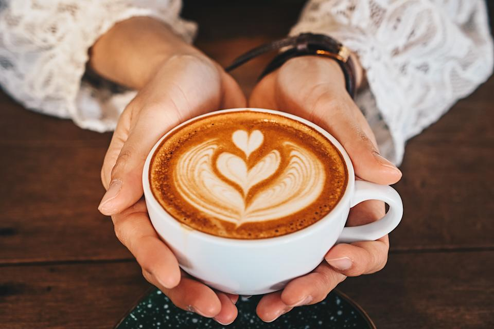 A latte is a coffee drink made with espresso and steamed milk.