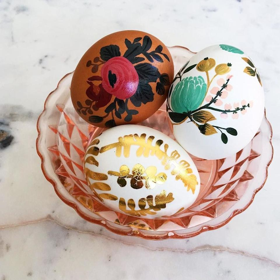 "<p>If you thought dying <a rel=""nofollow"" href=""http://www.delish.com/holiday-recipes/easter/"">Easter</a> eggs was lame, these next-level ideas will blow your mind.<span></span><span></span></p>"