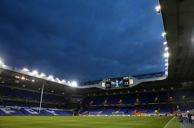 White Hart Lane under the floodlights