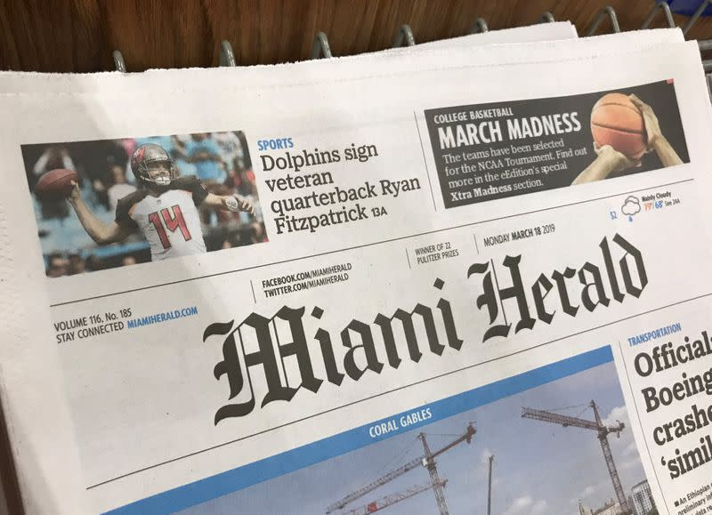 Hedge fund Chatham's bid wins auction for Miami Herald publisher McClatchy