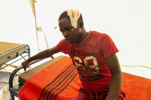 Victim: A young man recovers after receiving medical treatment in a camp in Chimanimani