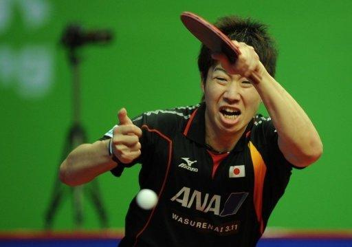 Japan's Jun Mizutani at the ITTF World Tour 2012 China Open in Shanghai in May. Among the players most likely to challenge the Chinese men are Mizutani, Germany's Timo Boll and Michael Maze of Denmark