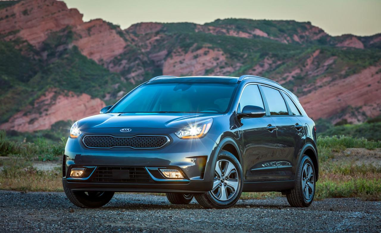 """<p><strong></strong></p><p>caranddriver.com</p><p><a href=""""https://www.caranddriver.com/kia/niro"""" target=""""_blank"""">Learn More</a></p><p>Available as a hybrid, plug-in hybrid, or pure electric vehicle, the Kia Niro offers a little bit of everything. This Editors' Choice crossover puts it right in the crosshairs of shoppers who want big mileage numbers without feeling like they settled for something too small. The base hybrid offers up to 52 mpg, but we suggest getting the Niro LX, which adds basic features. Step up to the plug-in and earn up to 26 miles of electric-only range before the engine kicks in. Go all out for maximum green cred and choose the Kia Niro EV. It boasts a claimed range of 239 miles.</p>"""