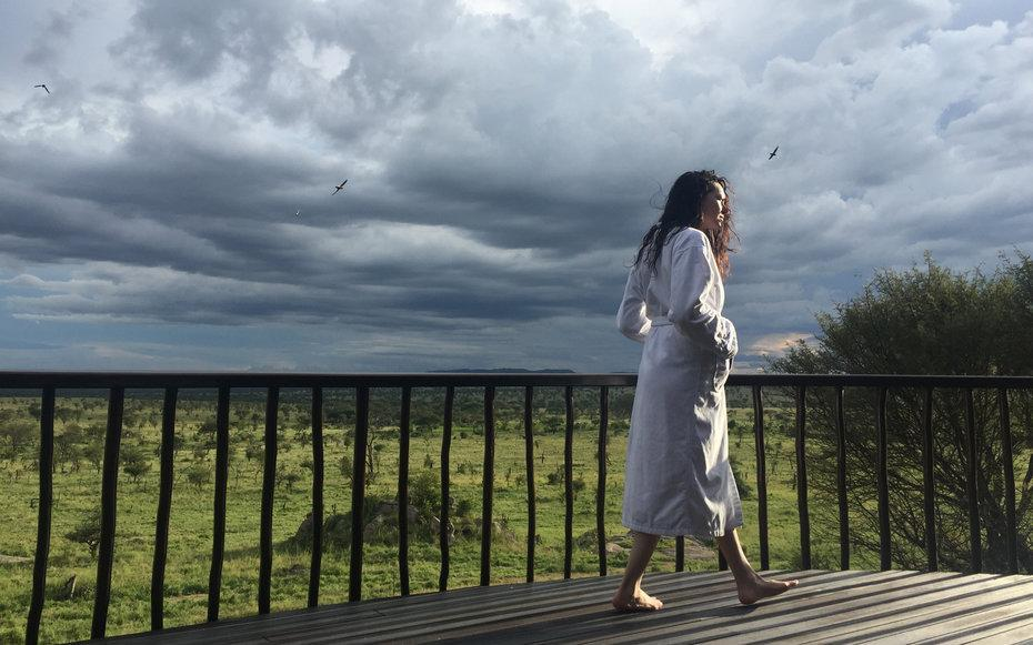 <p>This was taken on the balcony of my incredible suite at the Four Seasons Safari Lodge, Serengeti. Some days I would see herds of elephant, antelope and a dazzle of Zebras cruising around not far from my balcony. It was so special and magical.</p>