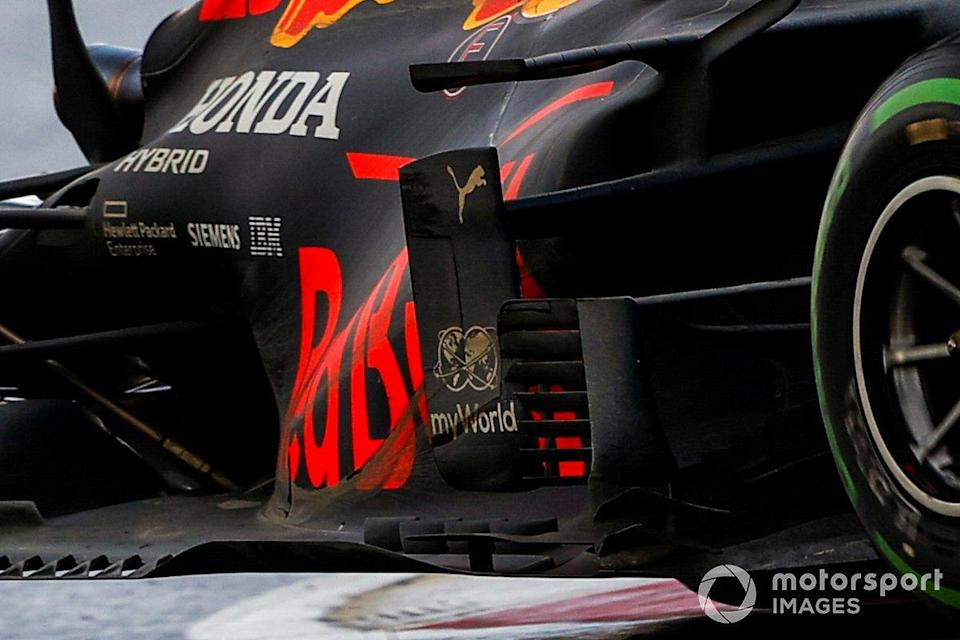 """Red Bull Racing RB16 sidepods detail<span class=""""copyright"""">Andy Hone / Motorsport Images</span>"""