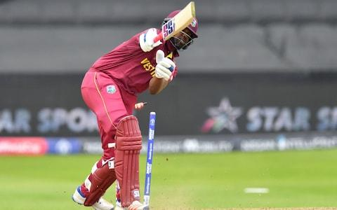 Darren Bravo bowled neck and crop - Credit: SAEED KHAN/AFP/Getty Images