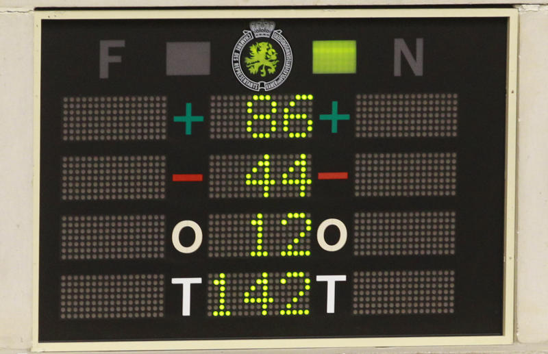 The electronic voting board shows Belgian politicians voted in favour of the bill on child euthanasia at the Belgian federal parliament in Brussels, Thursday Feb. 13, 2014. Belgium, one of the very few countries where euthanasia is legal, takes the unprecedented step of abolishing age restrictions on who can ask to be put to death, extending the right to children. The legislation appears to have wide support in the largely liberal country. But it has also aroused intense opposition from foes, including a list of pediatricians, and everyday people who have staged street protests, fearing that vulnerable children will be talked into making a final, irreversible choice. (AP Photo/Yves Logghe)