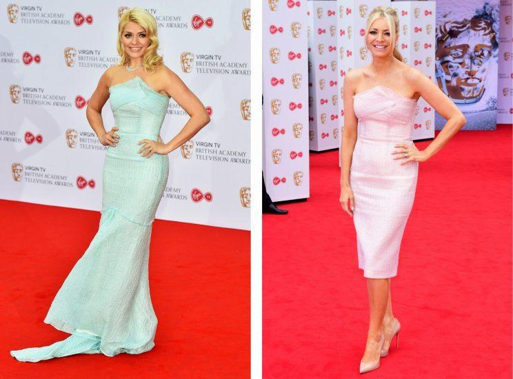 <i>Tess Daly and Holly Willoughby looked like twins at the BAFTA TV Awards [Photo: PA]</i>