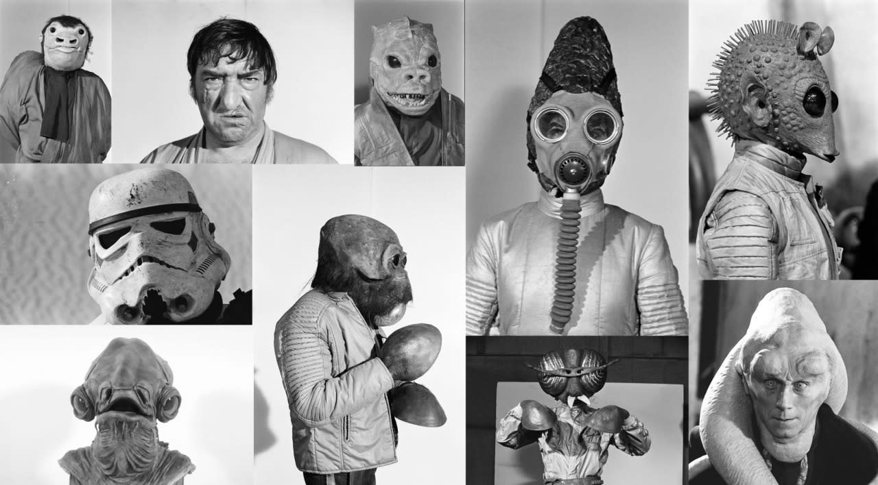 "<p>Makeup artist Stuart Freeborn created <a rel=""nofollow"" href=""https://www.yahoo.com/movies/the-star-wars-cantina-scene-the-151216488.html"">many of the <i>Star Wars</i> saga's iconic characters</a>, including Chewbacca and Yoda. Pictured here, an assortment of his cantina aliens (including ""Walrus Man"" Ponda Baba with original flippers), plus a weathered Stormtrooper, rebel leader Admiral Ackbar, and Jabba the Hutt translator Bib Fortuna. (Image: <a rel=""nofollow"" href=""https://www.facebook.com/StarWars/timeline"">Star Wars Facebook Page</a>)</p>"