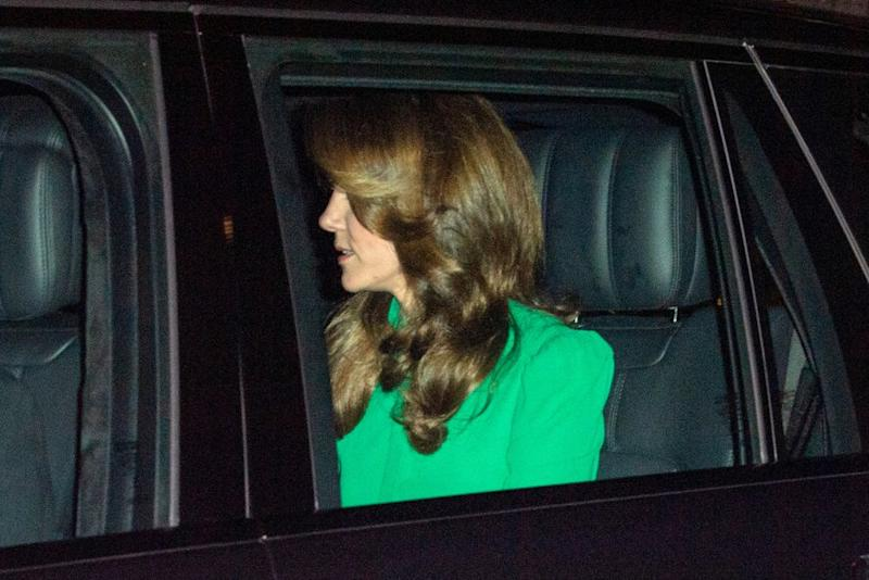 Kate Middleton arrives at palace reception