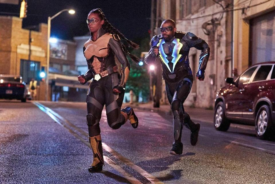 Here's a first for you: TV's first-ever Black superfamily. Nafessa Williams plays Anissa Pierce, the daughter of hero Black Lightning and the first Black lesbian superhero on TV. She is outspoken, politically minded, and stays kinda busy being a metahuman, med student, and high school teacher. I'm tired just writing that.