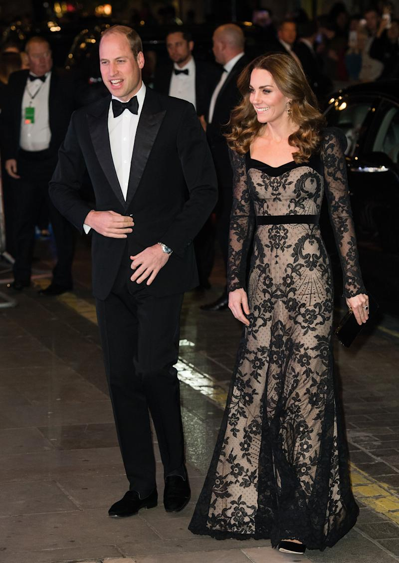 The Duke and Duchess of Cambridge attend the Royal Variety Performance at the London Palladium theater on Monday. (Photo: Samir Hussein via Getty Images)