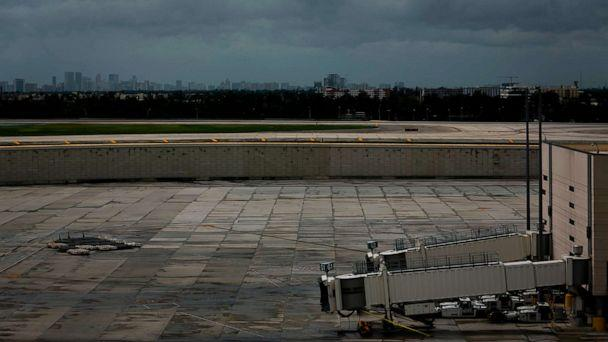 PHOTO: Empty gates are seen at Fort Lauderdale-Hollywood International Airport in Fort Lauderdale, Fla., Sept. 2, 2019. Lauderdale-Hollywood International Airport closed due to winds associated with Hurricane Dorian. (Eva Marie Uzcategui/AFP/Getty Images)