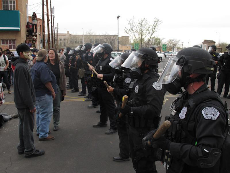 Hourslong protest turns to 'mayhem' in Albuquerque
