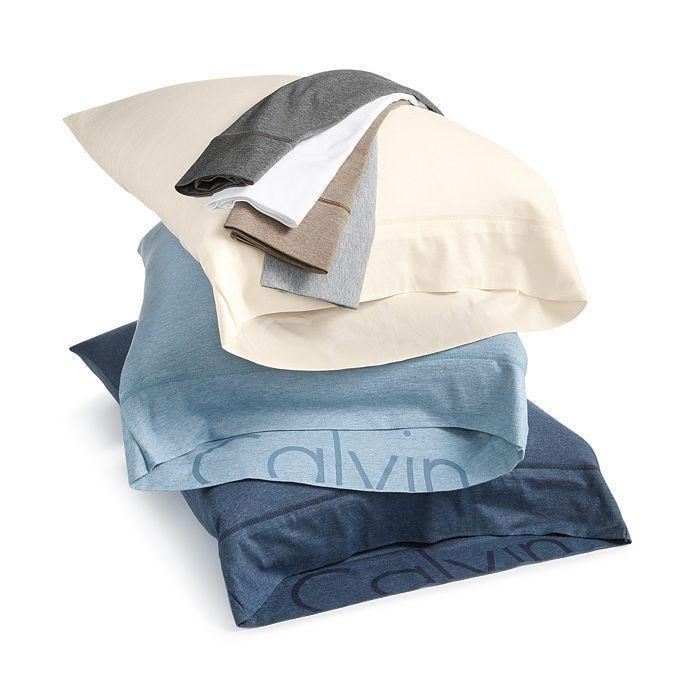 """<p><strong>Calvin Klein</strong></p><p>Bloomingdales</p><p><strong>$29.99</strong></p><p><a href=""""https://go.redirectingat.com?id=74968X1596630&url=https%3A%2F%2Fwww.bloomingdales.com%2Fshop%2Fproduct%2Fcalvin-klein-modern-cotton-jersey-body-solid-sheets%3FID%3D1733990&sref=https%3A%2F%2Fwww.cosmopolitan.com%2Flifestyle%2Fg31275980%2Fbest-bed-sheets-to-buy%2F"""" rel=""""nofollow noopener"""" target=""""_blank"""" data-ylk=""""slk:shop now"""" class=""""link rapid-noclick-resp"""">shop now</a></p><p>If your favorite T-shirt could be sheets, this is what it would feel like. Not too fancy, not too thick (or thin), but <em>just right</em>. (Also, peep that Calvin Klein logo on the inside—can you say, <em>subtle flex?</em>)</p>"""