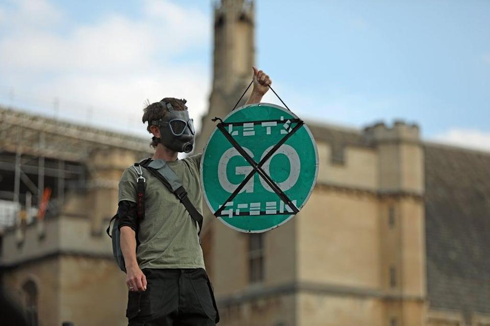 Extinction Rebellion will kick off demonstrations in central London from Monday, with their main demand this year being to ask the Government to stop new investments in fossil fuels (Luciana Guerra/PA). (PA Archive)