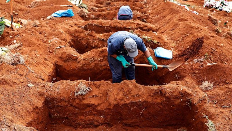 New graves being dug for