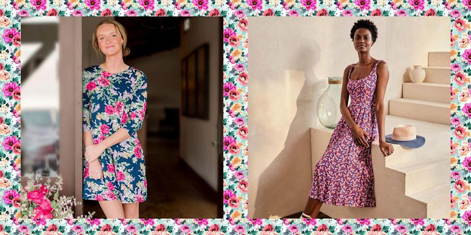 """<p>When it comes to a warm-weather wardrobe, cute summer dresses are always on the list. Scratch that—they're at the very <em>top </em>of the list, right above <a href=""""https://www.thepioneerwoman.com/fashion-style/g35787078/best-jean-shorts-for-women/"""" rel=""""nofollow noopener"""" target=""""_blank"""" data-ylk=""""slk:jean shorts"""" class=""""link rapid-noclick-resp"""">jean shorts</a>, lightweight tops, and even <a href=""""https://www.thepioneerwoman.com/fashion-style/g35524011/comfortable-flip-flops/"""" rel=""""nofollow noopener"""" target=""""_blank"""" data-ylk=""""slk:flip flops"""" class=""""link rapid-noclick-resp"""">flip flops</a>! After all, one of the best things about summer is getting to shed all of those layers for a few months before fall rolls around. Fun in the sun just wouldn't be, well, as much<em> fun </em>without a few affordable dresses. </p><p>While <a href=""""https://www.thepioneerwoman.com/fashion-style/g35433187/cute-floral-dresses/"""" rel=""""nofollow noopener"""" target=""""_blank"""" data-ylk=""""slk:dresses for spring"""" class=""""link rapid-noclick-resp"""">dresses for spring</a> often skew floral, summer dresses come in a vast variety of playful patterns and styles. You can find bright pops of color, fun prints and patterns, and cute details like ruffles, tie straps, and tiered silhouettes. If you're looking for something more sophisticated, that's doable, too: A crisp white dress paired with <a href=""""https://www.thepioneerwoman.com/fashion-style/g32380623/comfortable-sandals-for-women/"""" rel=""""nofollow noopener"""" target=""""_blank"""" data-ylk=""""slk:comfortable sandals"""" class=""""link rapid-noclick-resp"""">comfortable sandals</a> works just as great at a beach party as a casual sundress does. </p><p>One of the most iconic summer looks, a flowy maxi dress, is another fun option to keep in mind. Lightweight and breezy, these dresses are perfect for sultry summer days and nights, while still offering leg coverage. You'll find a few cute options here, along with midi dresses, and knee-length dresses. </p><p>If you're ready to"""