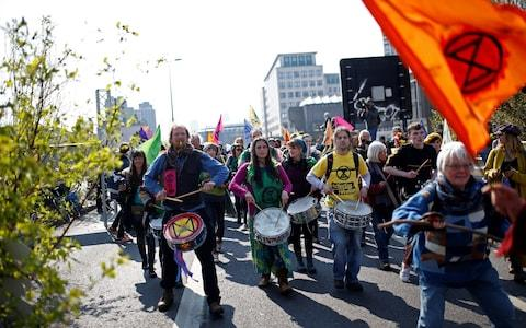 Extinction Rebellion said protests in London could last a couple of weeks - Credit: Henry Nicholls/Reuters
