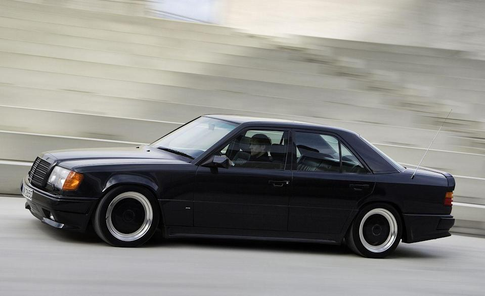 """<p>In the '80s, Aufrecht Melcher Großaspach had not yet taken its place as Daimler's version of BMW's M division. Instead, AMG was an independent tuning and accessories shop that had established a reputation in the 1970s with its race-prepped 300SEL 6.3. The 6.3 itself, as envisioned by Mercedes, was a riff on John DeLorean's brief for the Pontiac GTO: Take a large-car engine (in this case, the overhead-cam monster built to motivate <a href=""""http://blog.caranddriver.com/grosser-gravy-10-things-you-didn%E2%80%99t-know-about-the-mercedes-benz-600"""" rel=""""nofollow noopener"""" target=""""_blank"""" data-ylk=""""slk:the massive 600 series"""" class=""""link rapid-noclick-resp"""">the massive 600 series</a> beloved by dictators and other potentates) and drop it into a smaller automobile. </p>"""