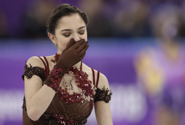 Evgenia Medvedeva provided one of the Games' most powerful moments and hopes to help her country regain credibility. (AP)