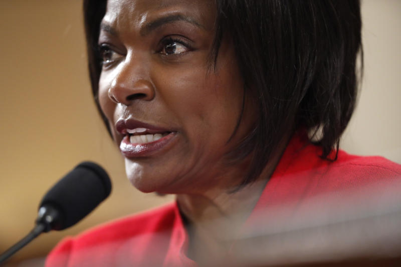 Rep. Val Demings, D-Fla., questions U.S. Ambassador to the European Union Gordon Sondland as he testifies before the House Intelligence Committee on Capitol Hill in Washington, Nov. 20, 2019 (Photo: Andrew Harnik/AP)