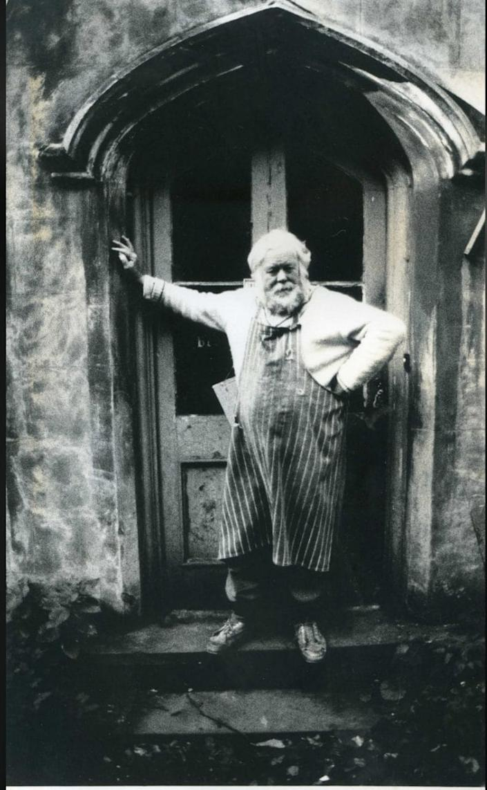 Douglas Gray outside his old rectory in Norfolk