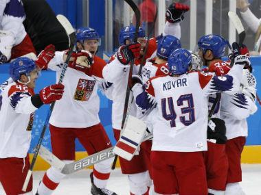 Jan Kovar and Petr Koukal scored in a penalty-shot shootout to give the Czech Republic a 3-2 victory over two-time defending champion Canada Saturday in the Pyeongchang Winter Olympics men's hockey tournament.