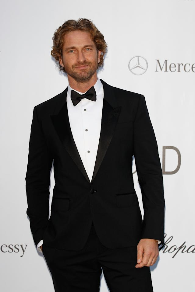 CAP D'ANTIBES, FRANCE - MAY 24:  Actor Gerard Butler arrives at the 2012 amfAR's Cinema Against AIDS during the 65th Annual Cannes Film Festival at Hotel Du Cap on May 24, 2012 in Cap D'Antibes, France.  (Photo by Andreas Rentz/Getty Images)