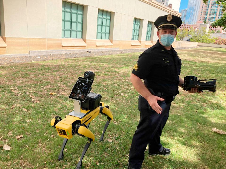 Robotic Police Dogs (Copyright 2021 The Associated Press. All rights reserved.)