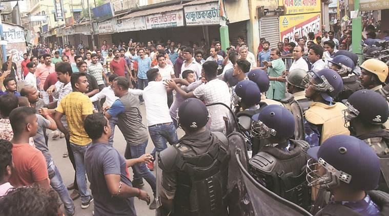 west bengal violence, west bengal political violence, BJP-TMC clash, section 144 bengal, Kankinara blast, kolkata news, latest news