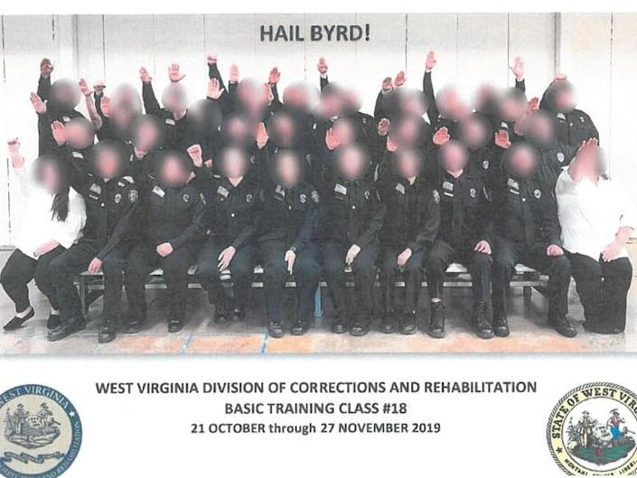 Three prison employees fired over Nazi salute photo, while 34 have been suspended: West Virginia Department of Military Affairs and Public Safety