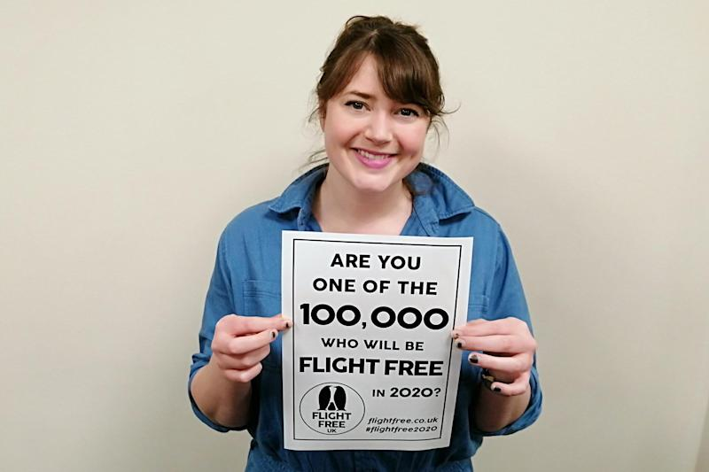 Helen Coffey has signed up to the flight-free pledge