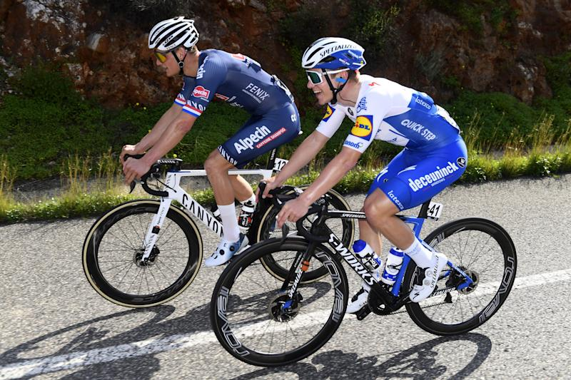 Alpecin Fenix's Mathieu van der Poel (left) and Remco Evenepoel (Deceuninck-QuickStep) are two of the favourites for the 2020 Il Lombardia, even though neither rider has raced the Italian Monument before