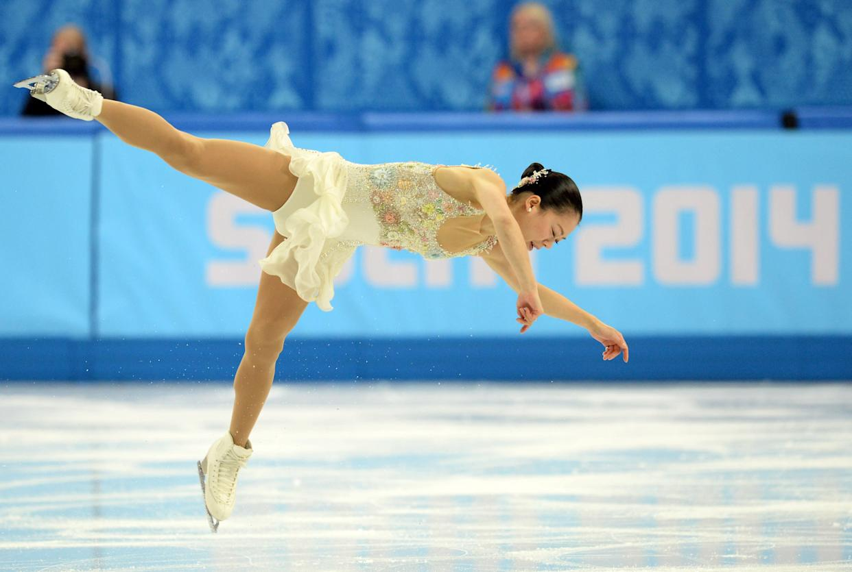 Japan's Akiko Suzuki performs in the Women's Figure Skating Free Program on Feb. 20, 2014.