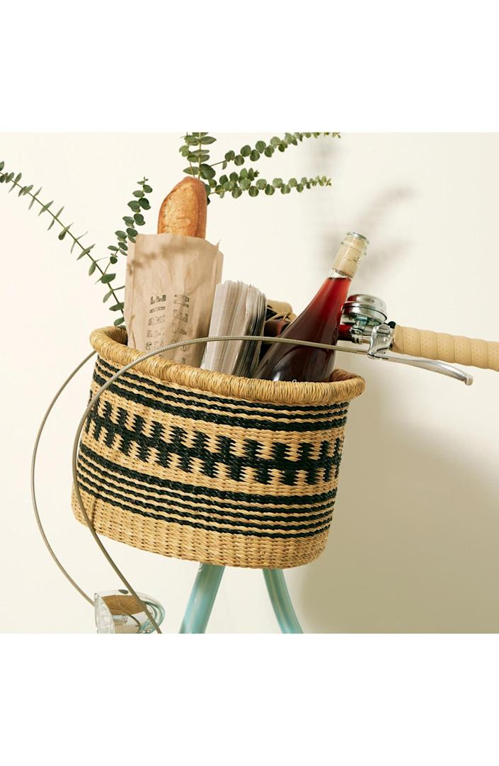 <p>This <span>Goodee x Baba Tree Large Bicycle Basket</span> ($100) is whimsical and has us dreaming of spring.</p>