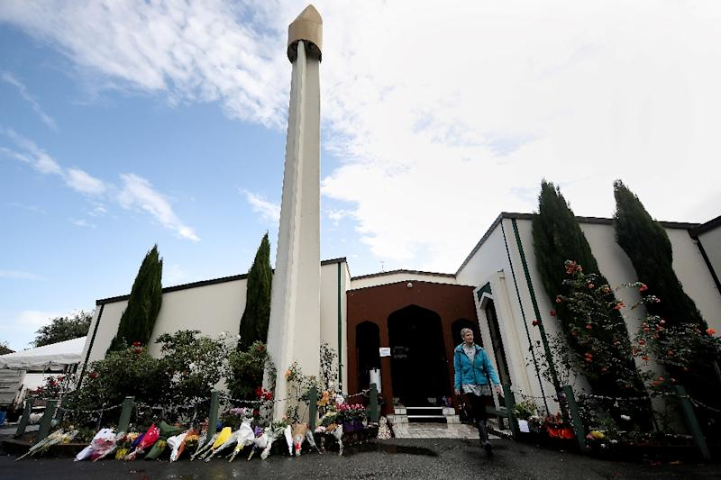 The Muslim community was further shaken this week when a man shouted abuse at worshippers at the Al Noor mosque (AFP Photo/Sanka VIDANAGAMA)