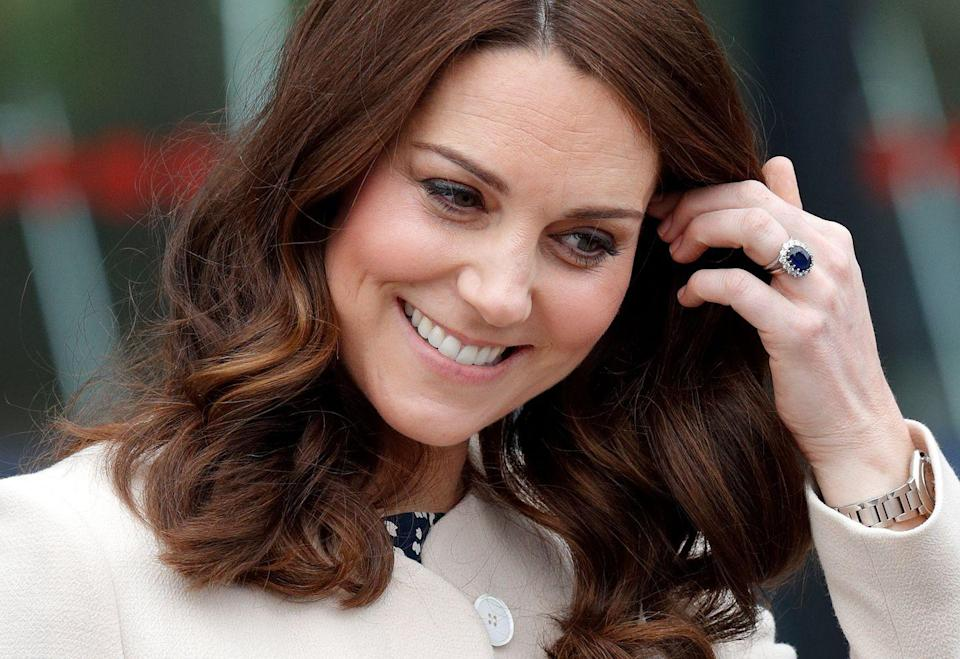 """<p>Prince William gave Middleton his late mother's sapphire cluster engagement ring, which sparked a resurgence in colored stone engagement rings. When speaking to reporters during his engagement announcement, Prince William explained why he chose the ring. """"It was my way of making sure mother didn't miss out on today and the excitement and the fact that we're going to spend the rest of our lives together,"""" he said, per <a href=""""https://abcnews.go.com/International/prince-william-kate-middleton-engagment/story?id=12158508"""" rel=""""nofollow noopener"""" target=""""_blank"""" data-ylk=""""slk:ABC News"""" class=""""link rapid-noclick-resp"""">ABC News</a>.</p>"""