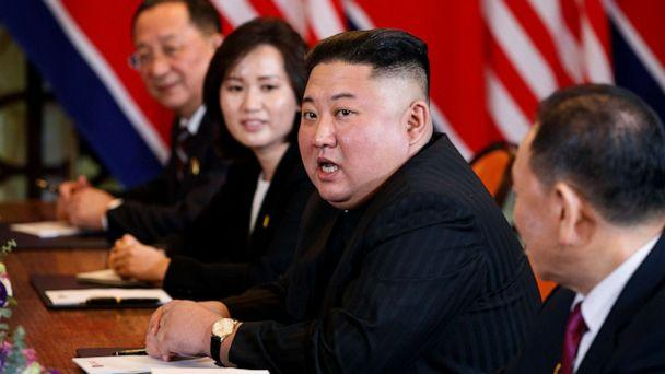 PHOTO: FILE - In this Feb. 28, 2019 file photo, North Korean leader Kim Jong Un answers a question from reporters during a meeting with President Donald Trump in Hanoi. (Evan Vucci/AP)