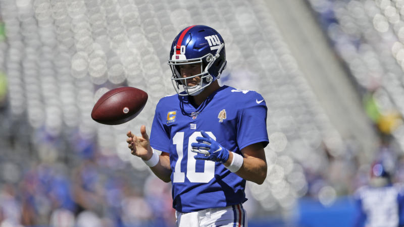 New York Giants quarterback Eli Manning will be the team's backup on Sunday. (AP)