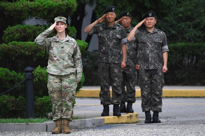 South Korean President Moon Jae-in says any peace treaty with North Korea would have no bearing on whether American troops stayed on the peninsula (AFP Photo/JUNG Yeon-Je)