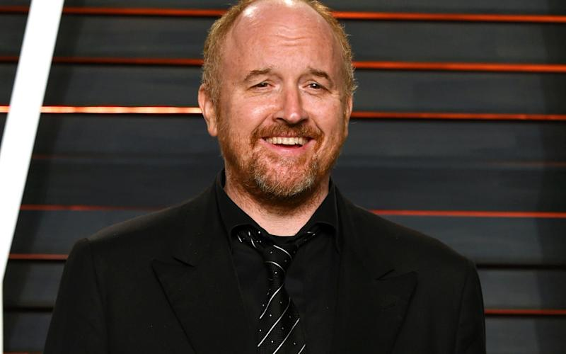 In this Feb. 28, 2016 file photo, Louis C.K. arrives at the Vanity Fair Oscar Party in Beverly Hills - AP