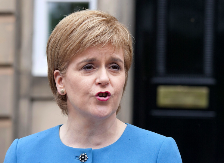 Nicola Sturgeon said a new independence referendum could take place as early as 2018 (Rex)