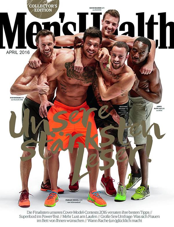 "<p>Transgender fitness model Melzer covered the April issue of <i>Men's Health</i> magazine in Germany alongside other shirtless male models in 2016. Speaking to the <i>Telegraph</i>, he said, ""I really hope that I can change attitudes. When you are born this way, you have no choice. So many people are hiding who they truly are, so I really wanted to give the trans community visibility. Show that we're just normal people."" (Photo: Germany Men's Health) </p>"