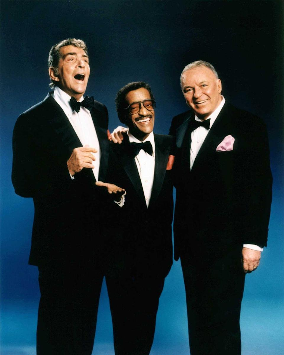 <p>Don't call it a comeback. Frank, Dean and Sammy pose for portraits together in 1988.</p>