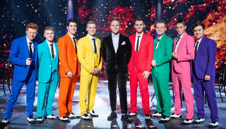 Olly Murs leads his group on Let it Shine