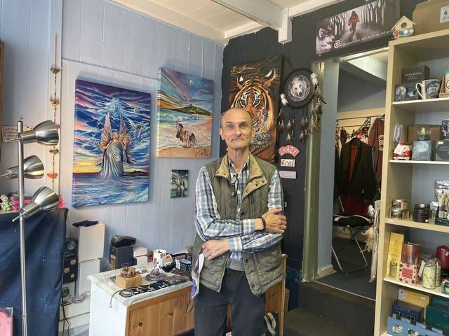 Colin Noall who owns Noall's Emporium in St Ives