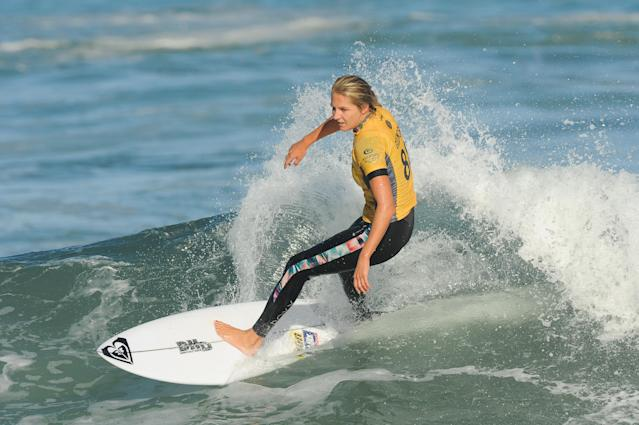The World Surf League will now give female surfers, like Stephanie Gilmore, the same prize money as male surfers. (Photo by Morgan Hancock/Action Plus via Getty Images)